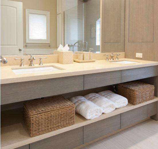 meuble salle de bains bois