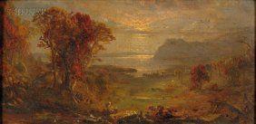 3135: Jasper Francis Cropsey (American, 1823-1900) Autu : Lot 3135