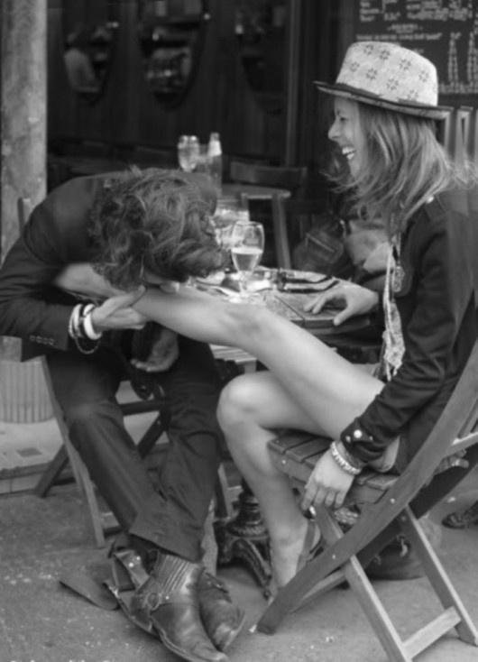 Spontaneous kiss