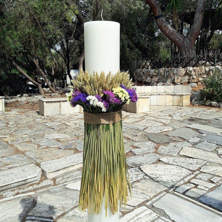 #λουλουδια_αγρου_διακοσμηση #wedding_candle_flowers #διακοσμηση_λαμπαδας