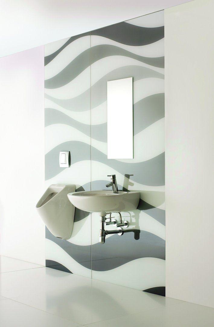 Сантехника из стекла, стали и камня Sprinz: Панели из стекла #hogart_art  #interiordesign