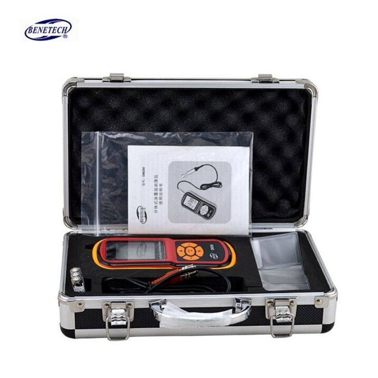 224.00$  Watch now - http://alick2.worldwells.pw/go.php?t=32705306788 - BENETECH digital GM280F Magnetic eddy current film/paint thickness gauge galvanizing film thickness gauge tester 0-1800um 224.00$