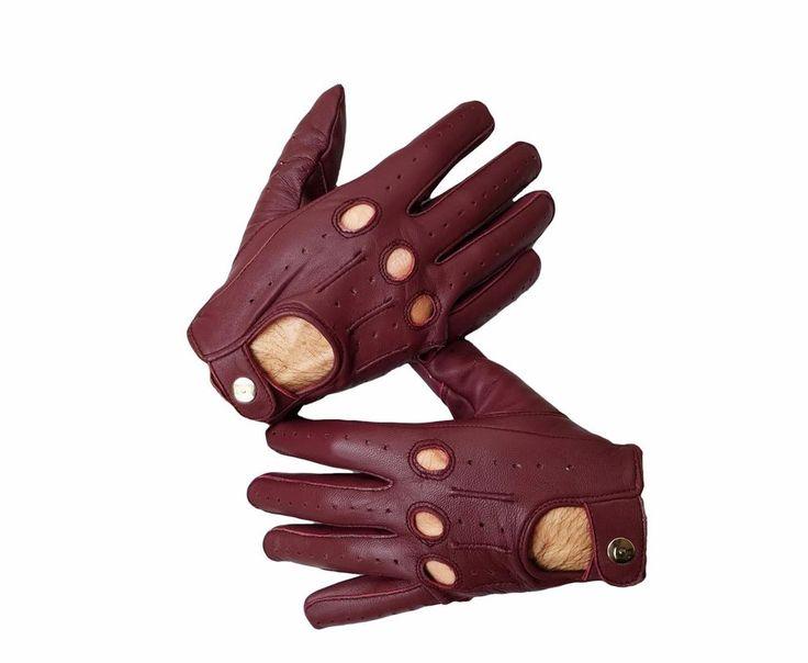 Oxblood red Sheep skin leather driving gloves for Men #RealRide #ArmyGlovesAthleticGlovesDrivingGloves