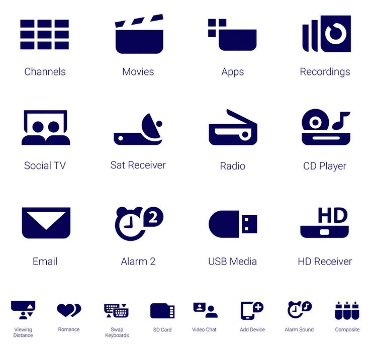 Icon Design by www.iconwerk.com #icon #electronic  Philips 2014 4K TV with Android UI. Super sleek, super simple. More than 300 icons have been built together with the TPVision design team. Here's an example with the brandnew Philips gesture control interface:
