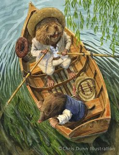 """Ratty and Mole - """"Messing About"""" by Chris Dunn Illustration/Fine Art: Gallery"""