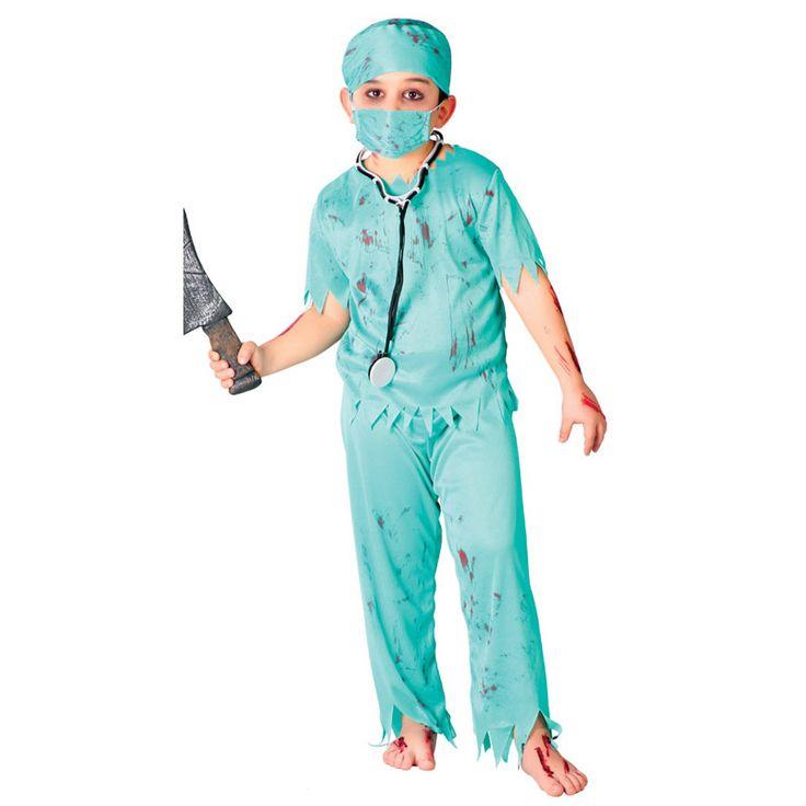 Disfraz de Cirujano Zombie Infantil #disfraces #carnaval #novedades2016