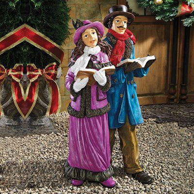 Basil Street Gallery Victorian Holiday Carolers Statue