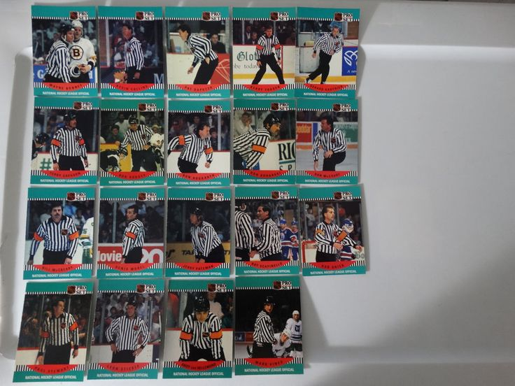 1990-91 Pro Set NHL Referee and Linesmen Team Set of 19 Hockey Cards (Missing 3) #Referees