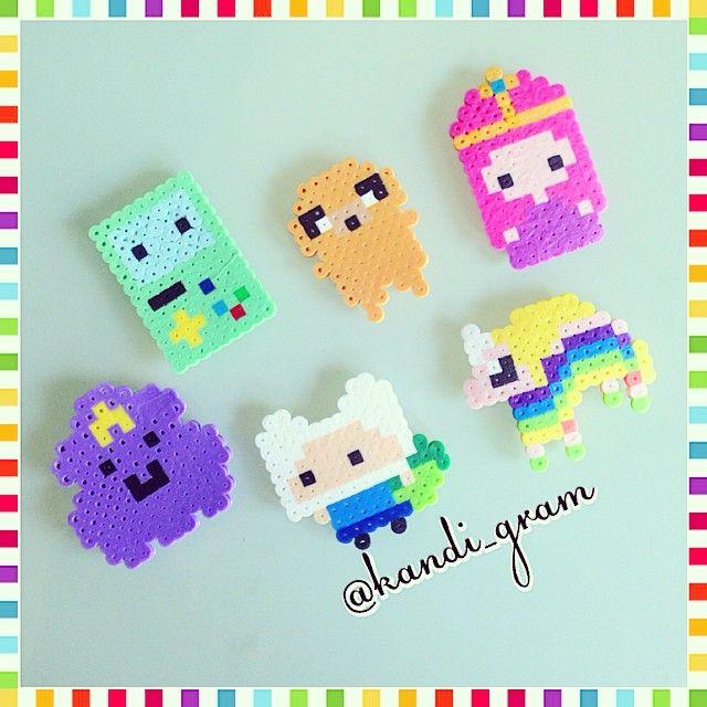 Adventure Time perler beads by kandi_gram