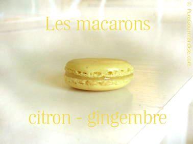 macarons citron gingembre