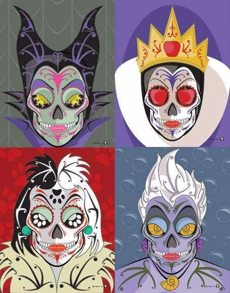 Sugar skull disney villains