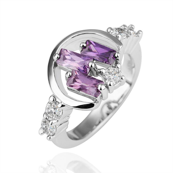 nice purple crystal pave ring us - Mickey Mouse Wedding Ring