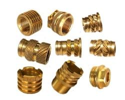 #BrassMoldingInserts  Available metric,UNC,UNF, BSW, BA, BSP, ISO, metric DIN & threaded Brass molding inserts for injection and roto molding . Moulding inserts & molding turned parts are also available as per customer requirements and samples plastic moulding PVC injection.