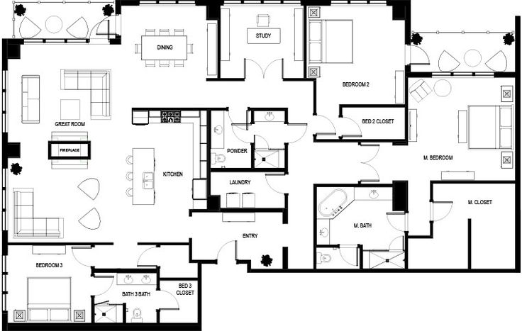 17 best images about architecture on pinterest modern for Floor plans high rise apartments