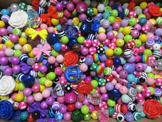 Chunky Bead Supplies Wholesale lot-DIY-Bubble Gum-Bead-Supplies-Lot-Complete Set-Over 250 Pieces on Etsy, $50.00