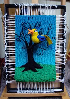 Dimensional Weaving - Martina Celerin 3D fiber art: August 2010