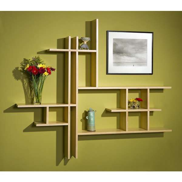Shelves For Home Decor Ideas: Home Design, Contemporary Bamboo Shelves Design: Classy