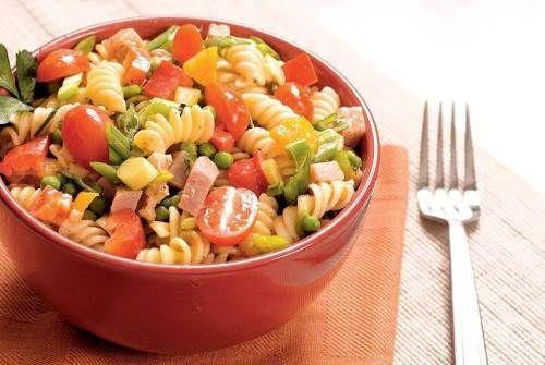 Итальянский овощной салат с макаронами | Островок Гурмания