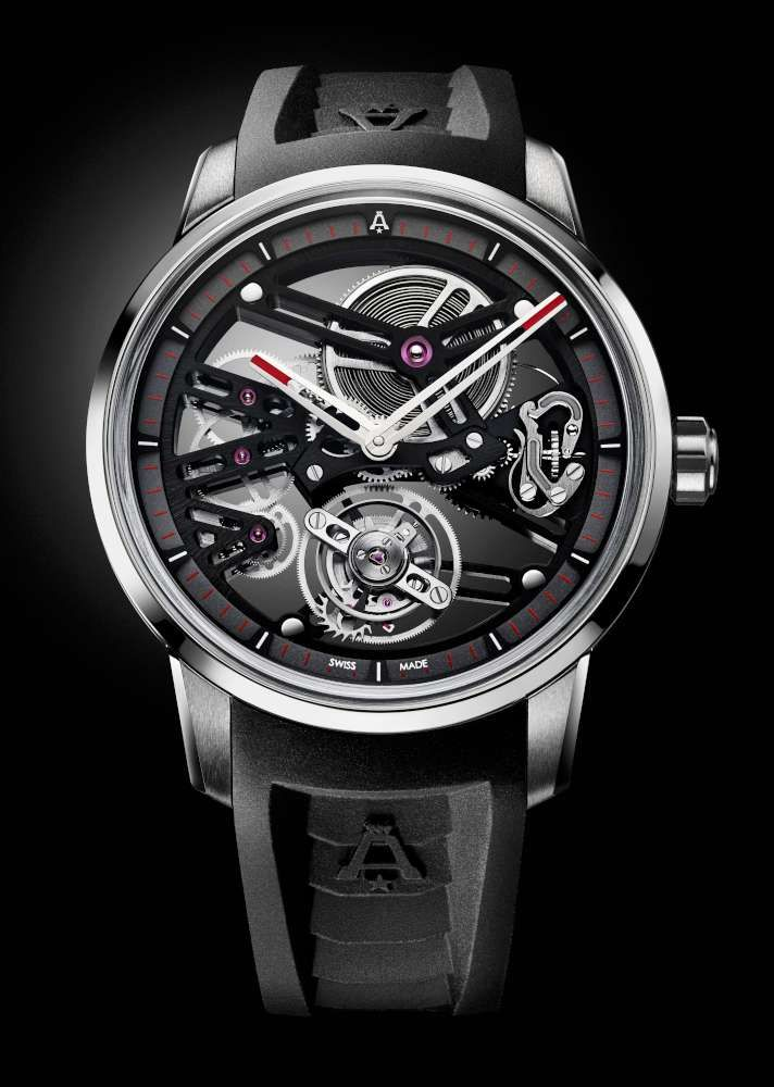 Angelus U40 Racing Tourbillon Skeleton, red-tipped hands