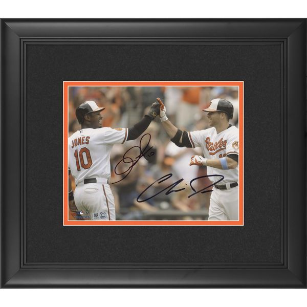 "Chris Davis, Adam Jones Baltimore Orioles Fanatics Authentic Framed Autographed 8"" x 10"" High 5 Photograph - $299.99"