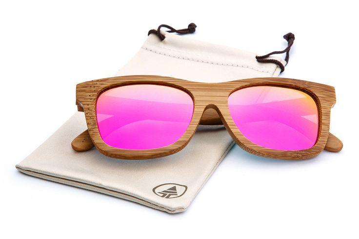 Original Floating Bamboos - Pink Mirror Lens
