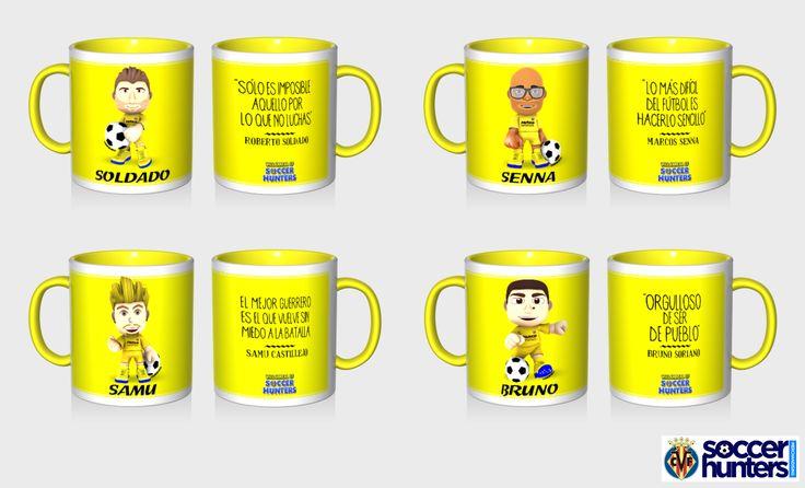 Acompaña tus desayunos, meriendas, momentos de relax en la oficina o salidas con amigos con los diseños y frases de Bruno, Soldado, Senna y Castillejo.
