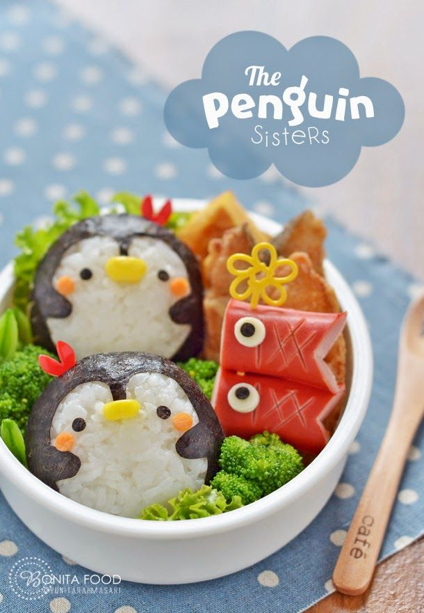 The Penguin Sisters Bento & Balinese Grapes Smoothie