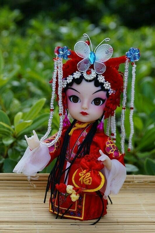 Ancient Chinese Bride Peking Opera Performers Doll