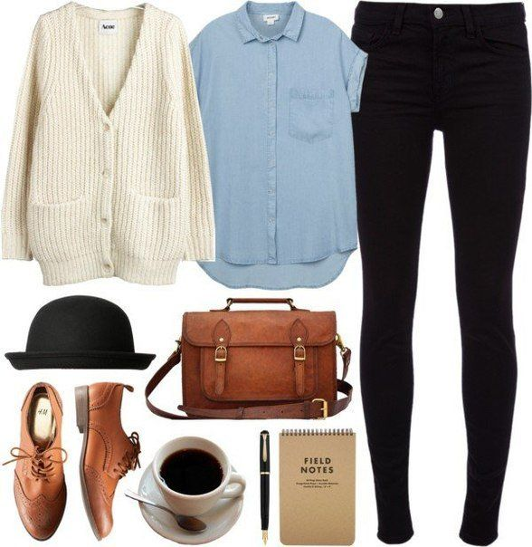 Trendy Outfit Idea with Oxford Shoes - so cute