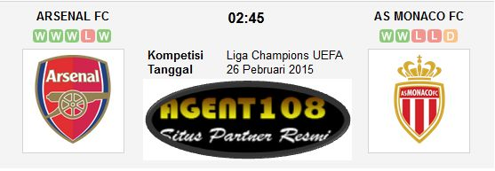 Prediksi Arsenal vs AS Monaco 26 Februari 2015 Liga Champions