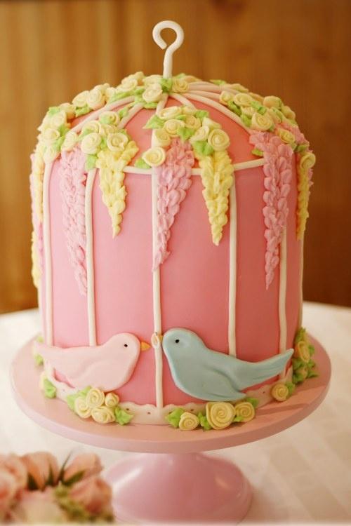 Cute bird cake