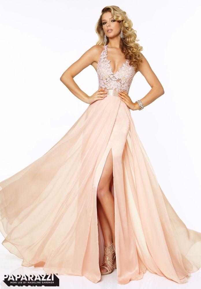 Paparazzi by Mori Lee Prom Dress 97018 - Blush Pink
