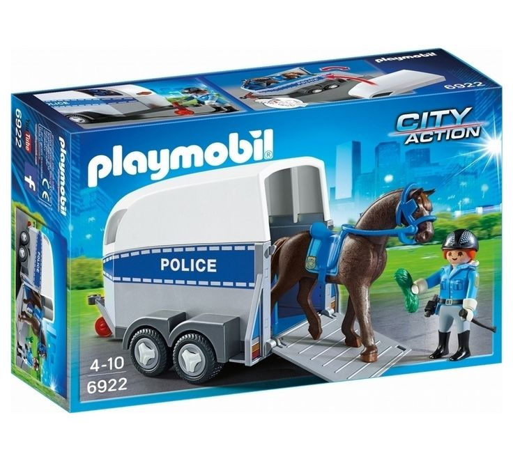 Buy Playmobil 6922 City Action Police with Horse and Trailer at Argos.co.uk, visit Argos.co.uk to shop online for Action figures and playsets, Toys