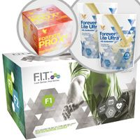 Forever F.I.T. 1 will teach you how the change the way you think about food and exercise and provide you with the knowledge you need to get inspired and change your body for the better!    Your F.I.T. 1 pack includes:   Aloe Vera Gel® – 4X – 1 liter bottles Forever Lite Ultra Shake® – 2 Vanilla pouches Forever Therm™ – 60 tablets Forever Fiber™ – 30 sticks Forever Garcinia Plus® – 70 softgels Forever PRO X²™ High Protein Bars – 10 Cinnamon Bars