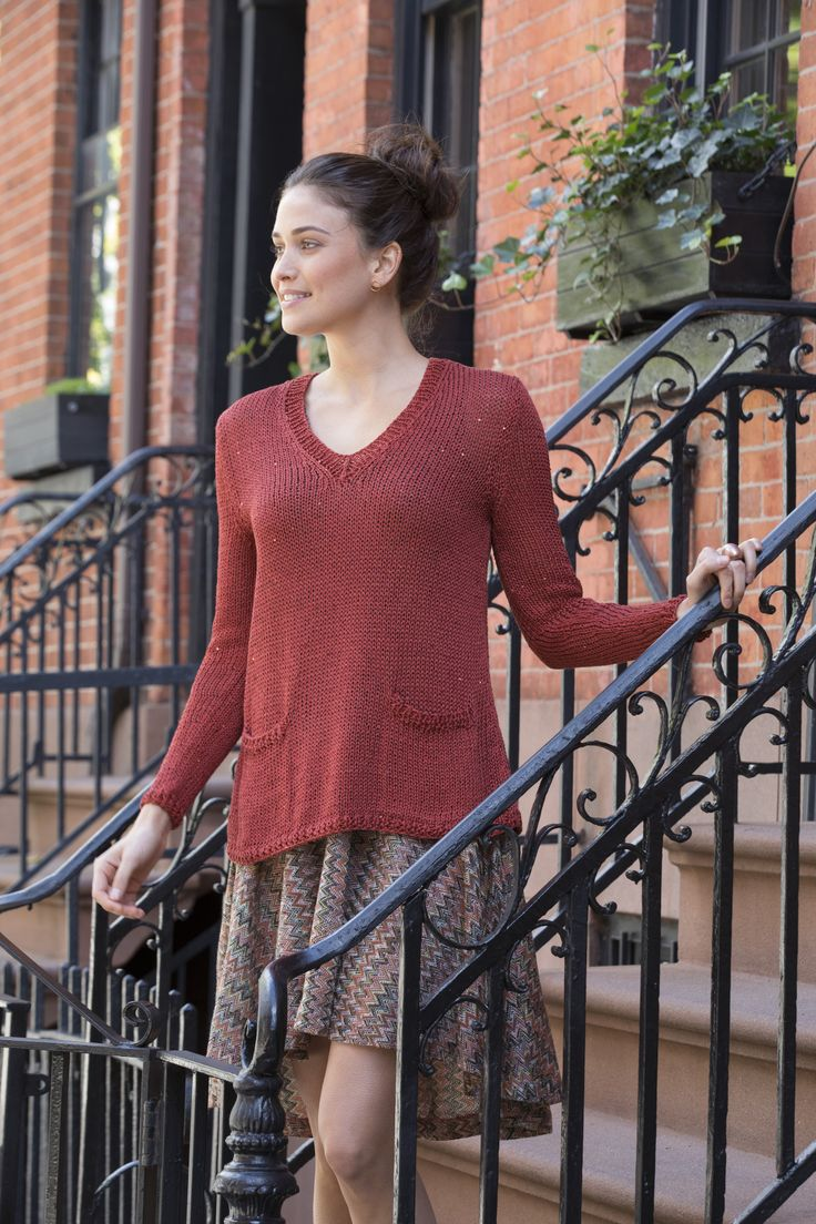 King Street Pullover in Stacy Charles Fine Yarns Nina & Flora