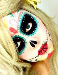 Image result for simple sugar skull makeup