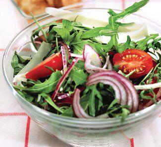 Салат с рукколой из говяжьего языка