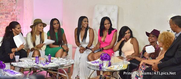 "IN THE ATL: ""RHOA"" Cast (Plus New Co-Stars) Do Kenya Moore's Haircare Launch + Porsha Williams, Toya Wright & Monyetta Shaw Party It Up- http://getmybuzzup.com/wp-content/uploads/2015/08/498053-thumb.jpg- http://getmybuzzup.com/kenya-moores-haircare-launch/- By _YBF Your fave reality celebs were on the scene in the ATL this week. Peep pics of the ""Real Housewives of Atlanta"" cast filming during Kenya Moore's Moore Haircare launch and party pics of Porsha Willi"