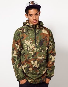 The Hundreds Hooded Mac Agriculture Camo Print