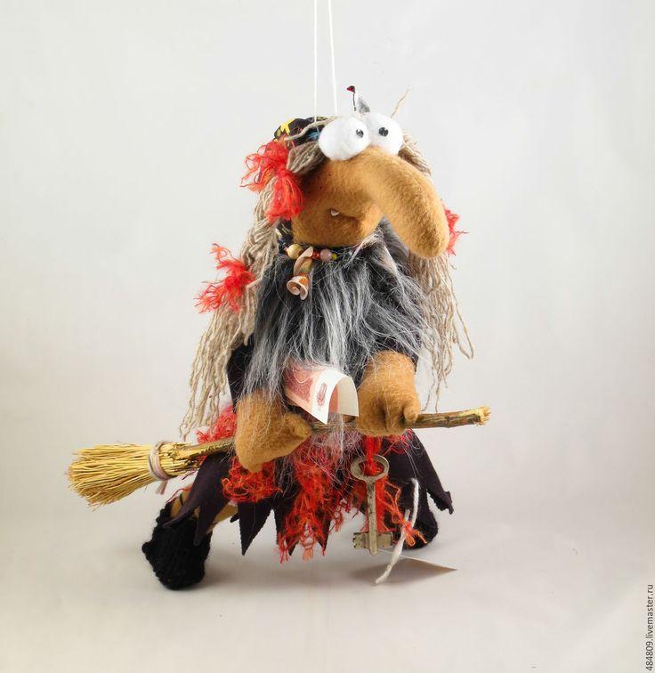 """Купить Баба-Яга """"Летим на шабаш"""" - коричневый, баба-яга, баба-ежка, ведьма, ведьмочка"""