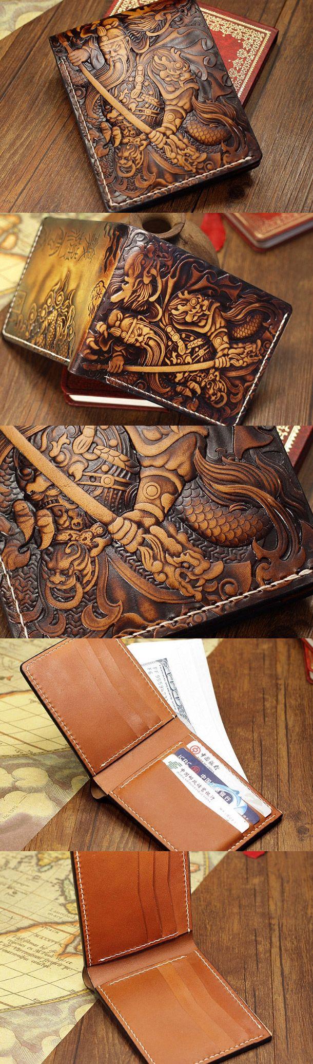Handmade the-Three-Kingdoms_Guan-Yu carved leather custom
