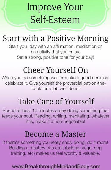 How to boost ones self esteem