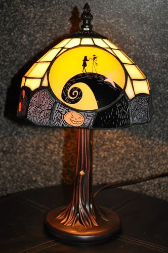 Nightmare Before Christmas Tiffany Lamp RARE Limited Edition Collectibles
