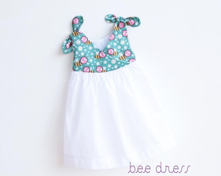 (9) Name: 'Sewing : BEE SWEET Baby Girl Overall Dress