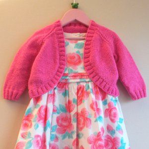 Little Girl's Sparkle Bolero | AllFreeKnitting.com
