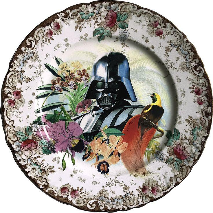 Lord Vader - Darth Vader - Star Wars - Vintage Fiance Plate - #0590 by ArtefactoStore on Etsy