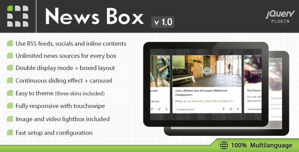News Box - jQuery Contents Slider and Viewer