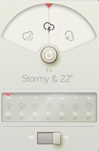 แบนแต่ไม่แบนทั้งหมด ผสมได้กลมกล่อมกำลังดี //Dieter Rams-inspired weather app