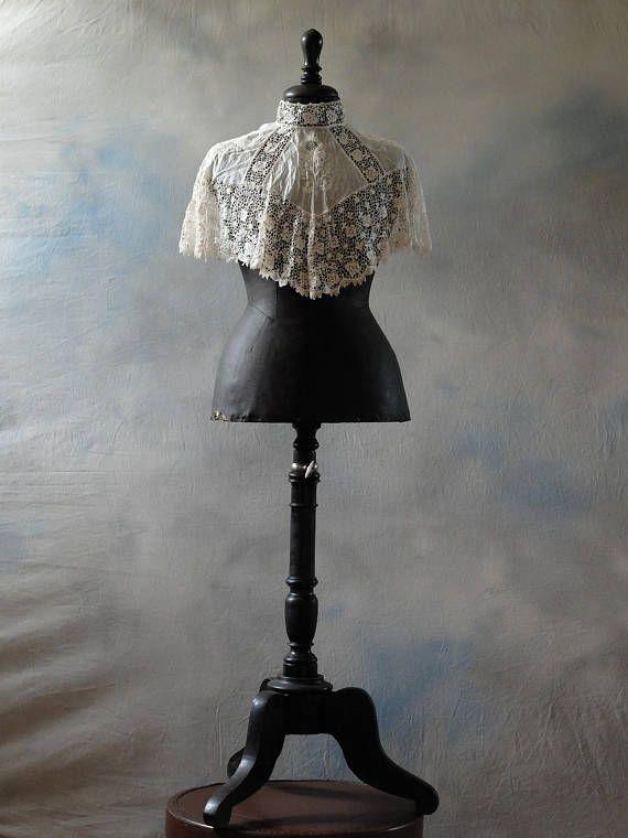 Rare antique Stockman wasp waist child mannequin child
