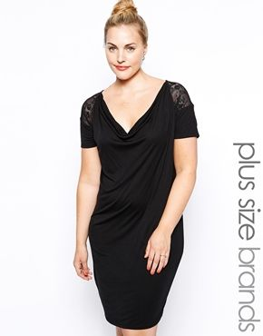 Junarose+Lace+Insert+T-Shirt+Dress